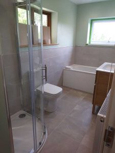 Family bathroom fitted by Peter Robinson Installations