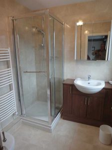 Shower in bathroom fitted by Peter Robinson Installations