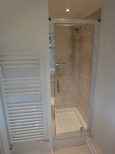 Shower cubicle tiled and fitted by Peter Robinson