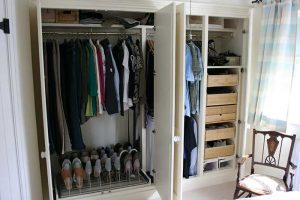 Inside view of fitted bedroom wardrobes by Peter Robinson Installations