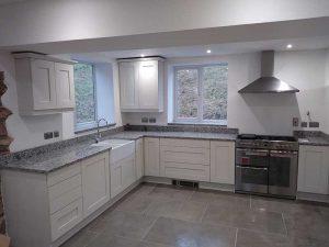 Finished Kitchen at Shirenewton, Monmouthshire