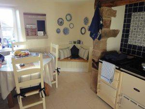 Bespoke corner seat in kitchen