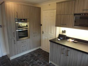 Black and Grey Kitchen with Double Oven