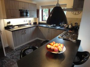 Black and Grey Kitchen in Monmouth