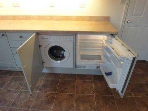 Integrated washing machine and fridge