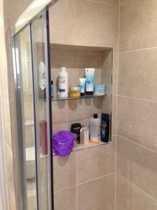 Peter Robinson Installations in-shower Storage Solution