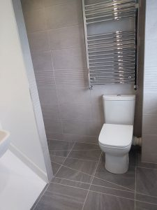 Complete wet room design and installation above stair well