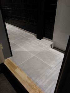 Peter Robinson Installations showcases tiling laid in bathroom in Monmouthshire.