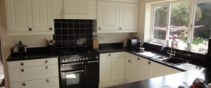 Classic Cream and Black Kitchen, Monmouthshire