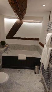 Large luxury bathroom in old house