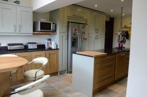 Green and Oak kitchen