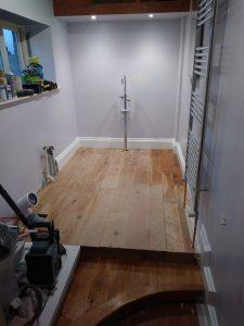 Bathroom flooring and fittings